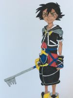 Ash as Sora by madiquin185