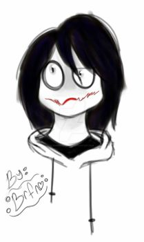 Jeff the Killer (my cartoon drawing style) by homicidal-ashley