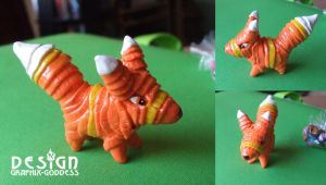 Paulie Pretztail VIVA PINATA POLYMER FOX FIGURE by Graphix-Goddess