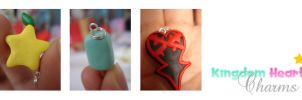 Kingdom Hearts charms by Yanita
