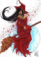 Halloween 2009 - Red Witch by Roots-Love