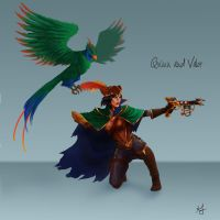 Bilgewater Quinn and Valor Skin by Xelandra