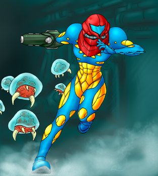 Metroid Fusion by QuintonQuill