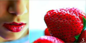 Strawberry Lips . . . by Sha59-Ananii