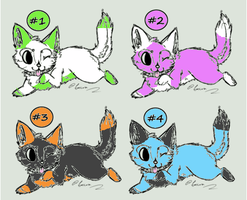 Kitty Adoptables 5: 4/4 Open! by WarriorCatLuver123