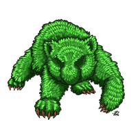 Topiary Bear by ProdigyDuck