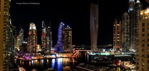 Dubai Marina Panoramic View by vinayan