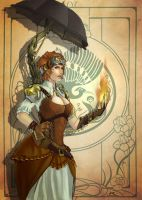 Steampunk Witch by i-KEL