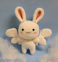 Flying Rabbit Amigurumi Angel Crochet Pattern by xMangoRose