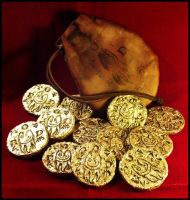 Esoteric Order of Dagon Gold Coins by JasonMcKittrick