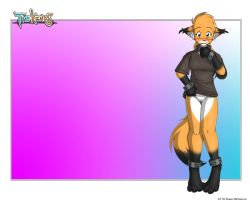 Pantless foxgirl Mike 1280b by c-death