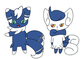 Meowstic by DrewTheRedPoochyena