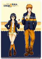 CT: Blue n' Orange outfits! by Tsukiami