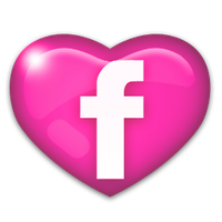 Facebook Icon Pink by PinkLovin