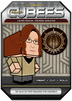 Laura Roslin - Grunge Sweater by BSG75