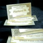 Homemade Hogwarts Express ticket by Hairac