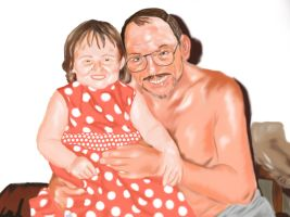 Portait of me and grandad by usmelllikedogbuns