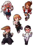Dangan Ronpa Stickers Part 1 by Kiwifie