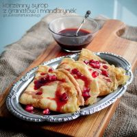 Sweet pomegranate-tangerine syrup with spices by Pokakulka