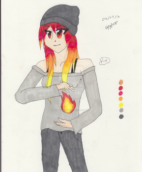 The Elementress: Fire by gabseedoodle