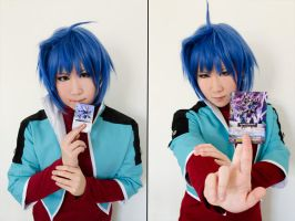 Cardfight!!Vanguard - Aichi test by kitsunesqueak