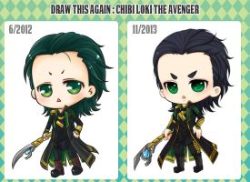 :Draw this Again: Chibi Loki by PrinceOfRedroses