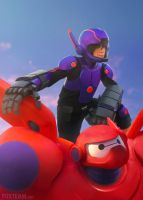 Big Hero 6: Hiro and Baymax 2.0 by behindinfinity
