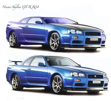 Skyline GTR R34 by Zelras