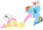 Fluttershy + Rainbow Dash Vector - W u no want RP? by Anxet