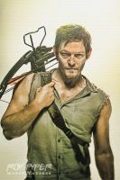 The Walking Dead: Daryl: Sketch Re-Edit by nerdboy69