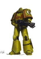Imperial Fists Tactical_Flamer by MasterAlighieri