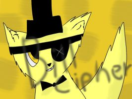 Bill Cipher as a cat by DatMidnight