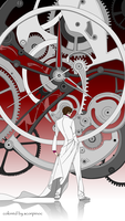 Air Gear 278 - Ion-Iron Clock by scorpinoc