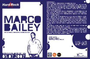 flayer 4 marco bailey party by indog
