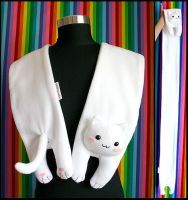 Longcat Fleece Scarf by HezaChan