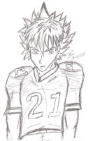 """Football + Spikey Hair..."" by BenSoulstone"