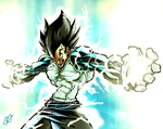 vegeta dragon ball Z by soulrailer
