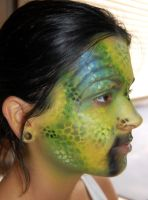 side view alien make up by studioexperiment