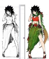 D'lalah before and after Sketch by xAKUM3TSUx