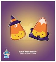 Mr and Mrs Kawaii Candy Corn by KawaiiUniverseStudio