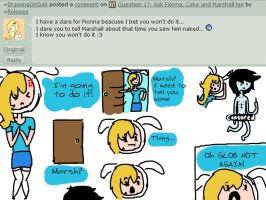 Question 18: Ask Fionna, Cake and Marshall lee by PolitosBurritos