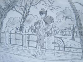 Detective Conan in the park by mystic-pUlse