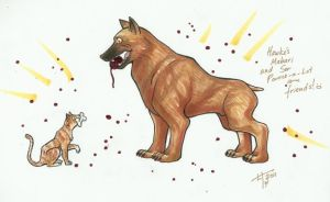 Dog and Ser Pounce-a-Lot by notationn