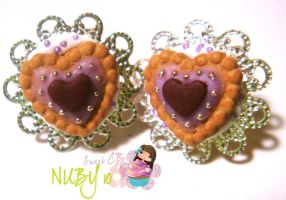 Heart Shaped Tarts - studs by colourful-blossom