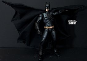 New 52 - Jim Lee Black Batman custom figure by SomethingGerman