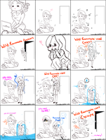 Comic:  A Wild Roomate Appears! by LemonPetals