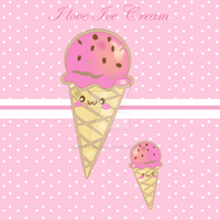 I love ice cream by PookieTookieJewelry