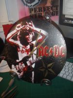 ACDC Gold Clock by artbyabbey