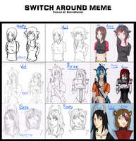 .:Switch Around Meme:. Bree, Poochy, and Val! by LittleChiChi