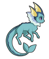 Vaporeon by Sugarcup91